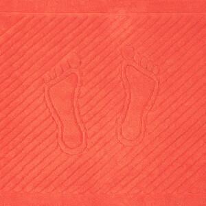 Полотенце махровое ножки 700 гр/м2 Туркменистан 50/70 см цвет коралловый