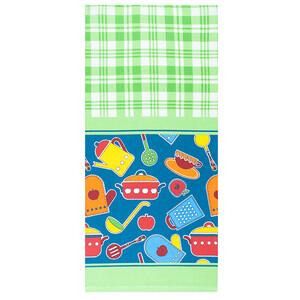Набор вафельных полотенец 3 шт 35/70 см 431/2 Кухня цвет зеленый