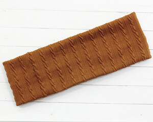 Повязка на голову коричневая