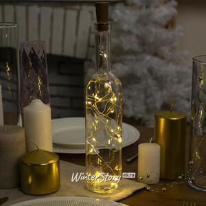 Гирлянда - пробка для бутылки Капельки, 8 теплых белых LED ламп, на батарейках, IP20 (Koopman)