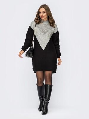 Платье вязаное 12129