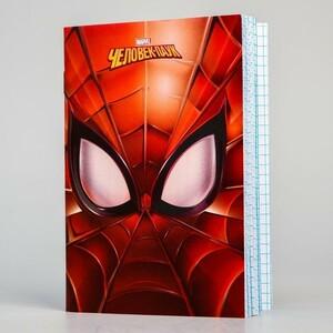 Блокнот А6 32 л на скрепке Человек-паук Spider-man