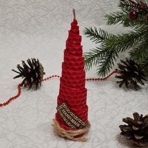 Свеча из вощины ЕЛКА 12*3,5см (1шт) в подарочной упаковке