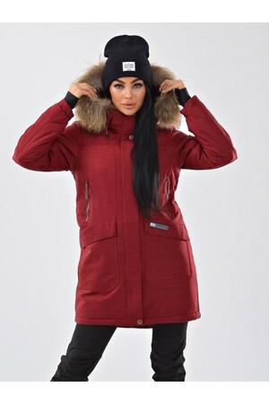 Женская куртка-парка Azimuth B 21802_97 Бордовый