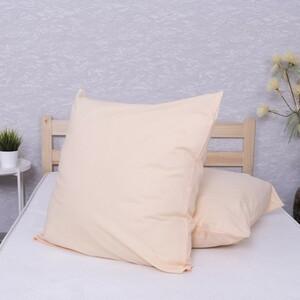 Наволочка Бязь гладкокрашенная цвет персик в упаковке 2 шт 70/70 см
