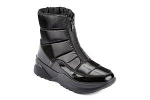 1604DR ботинки женские черный флэш