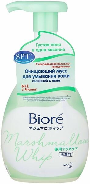 27508 Biore Мусс очищающий для умывания против акне 150 мл., шт