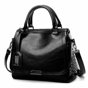 Женская кожаная сумка 1934-1 BLACK
