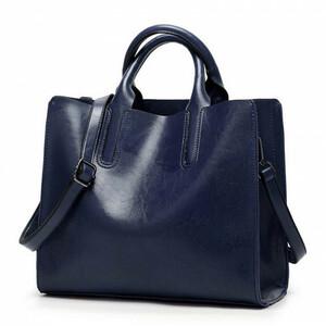 Женская кожаная сумка 302 D BLUE