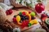 Мармелад в виде фруктов, восточные сладости, зефир
