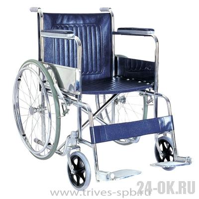 CA905 Кресло-коляска TRIVES (с фиксированными подлокотниками и откидными подножками)