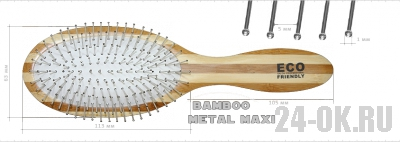 Расчёска ECO Bamboo Metal MAXI