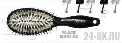 Расчёска Salon Black MAXI 2C