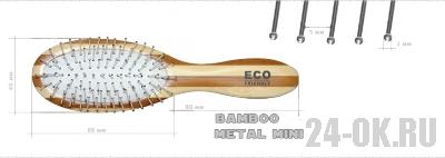 Расчёска ECO Bamboo Metal MINI