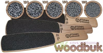 Тёрка двухсторонняя деревянная WOODBUK    100/150