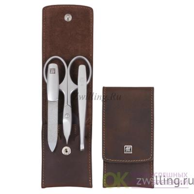 Маникюрный набор 3 пр TWINOX Mountain коричневый отделка