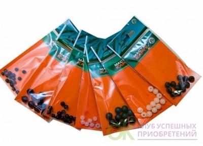 Бусина силикон. d9мм зеленая (12шт.) (Три кита)