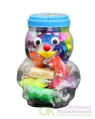 """Набор """"Тесто для лепки"""", в пластиковом ведерке-человечке, 14 цветов, 3 формочки"""