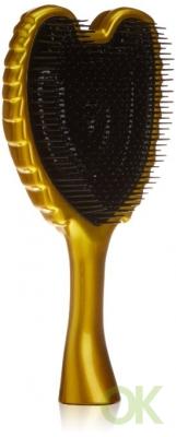 Tangle Angel Ergonomic Shape Hair Brush With Heat Resistant Antibacterial Bristles, Gorgeous Gold