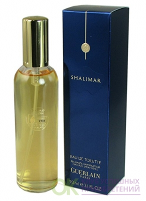 Shalimar Eau de Toilette Spray Refill for Women by Guerlain 3.1 Oz / 93 Ml Refill