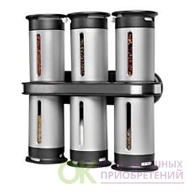 Набор для специй с магнитным держателем (6 предметов) Zero Gravity Wall Mounted Magnetic Spice Rack