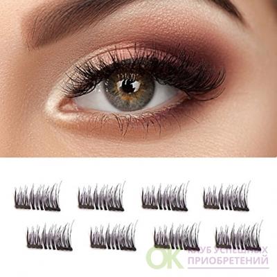 Double Magnetic False Eyelashes - No Glue Mess-Free Reusable