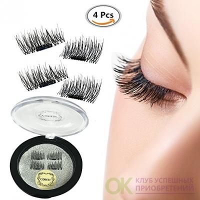 False Magnetic Eyelashes, Magnetic False Eye Lashes Magnet Eyelashes, 1 pair (4 piece)