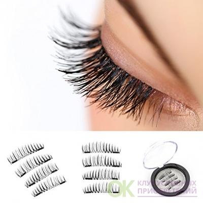 VereBeauty Long Dual Magnetic False Eyelashes, Natural Look, Most Glamorous 3D