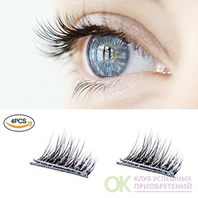 New Magnetic False Eyelashes , Ultra Thin 3D Fiber Reusable Best Fake Lashes