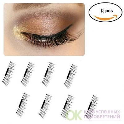 Faiger Magnetic Eyelashes, 3D Natural False magnet eyelashes