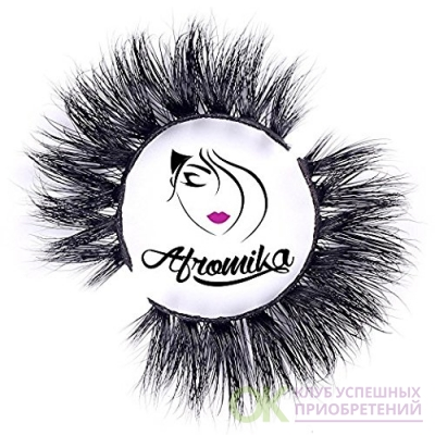 3D Mink False Eyelashes by Afromika Long Thick Dramatic Look Handmade