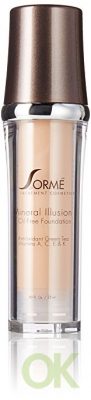 Sorme Cosmetics Mineral Illusion Foundation, Porcelain, 0.8 Ounce