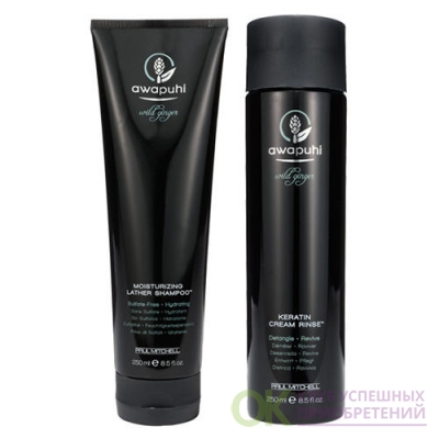 Awapuhi Wild Ginger Moisturizing Lather Shampoo 8.5 oz & Keratin Cream Rinse 8.5oz (250 мл., 250 мл.)