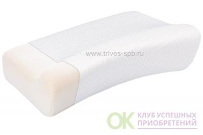 ТОП-116 Подушка ортопедическая с валиком под голову с эффектом памяти
