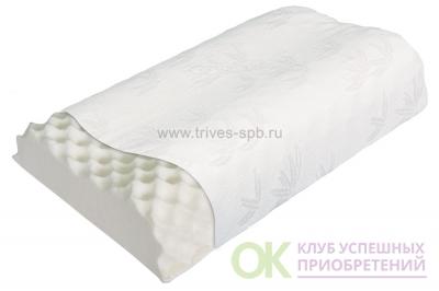 Т.703 (ТОП-203) Подушка ортопедическая массажная под голову с двумя валиками 10 и 12см