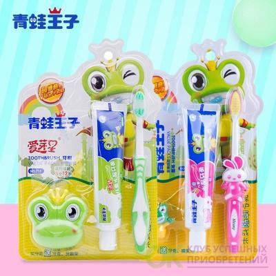 зубная щетка + зубная паста