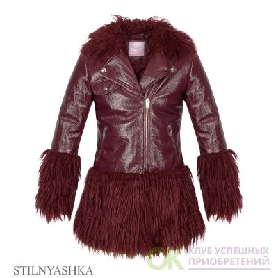 Куртка КР-1084 Розовый леопард