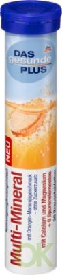 DAS gesunde PLUS Multi-Mineral Мультиминеральные Растворимые таблетки Кальций+Магний, вкус апельсина, 20 шт (арт. RM406-02851)