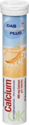 Das gesunde Plus Calcium Brausetabletten Кальций Растворимые таблетки, 20 шт (арт. RM406-02798)
