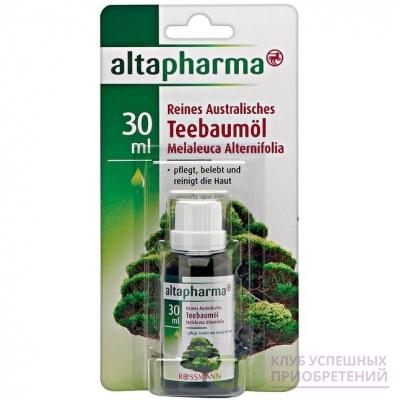 altapharma Reines Australisches Teebaumol Чистое Австралийское масло Чайного дерева восстанавливает кожу 30 г (арт. RS-685498)