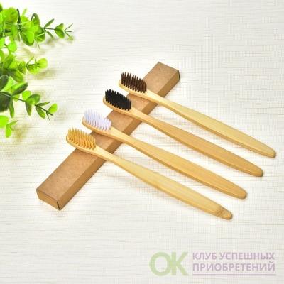 Экологически чистая деревянная бамбуковая зубная щетка