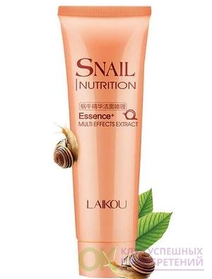 [LAIKOU]Пенка для умывания Laikou Snail Nutrition Cleansing Foam , 100 мл.