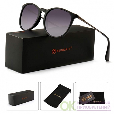 SUNGAIT Vintage Round Sunglasses for Women Classic Retro Designer Style