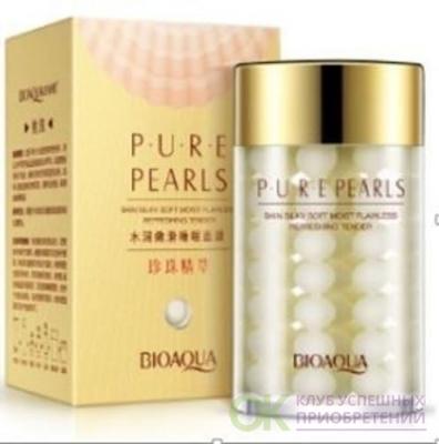 BIOAQUA Pure Pearls Sleek Mask Ночная питательная маска для лица с жемчугом и коллагеном, 120 г