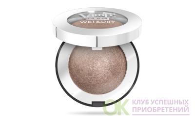 Pupa 040245A102 Запеченные тени с сияющим финишем VAMP! WET&DRY №102 Золотистый темно-серый