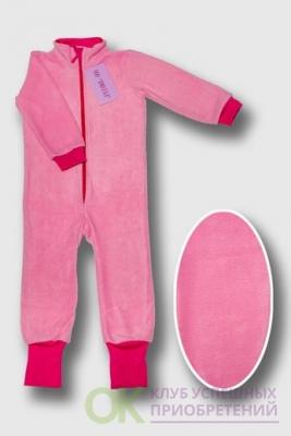 поддева флисовая розовая с манжетами цвета фуксии 80-86, 92-98, 104-110 Артикул: ПРФ-1 (80-86), ПРФ-2 (92-98), ПРФ-3 (104-110)