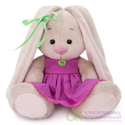 Зайка Ми в розовом платье в полоску (малыш), игрушка Буди Баса (арт. SidX-318)