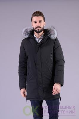 Р-1163 Удлиненная куртка - мех