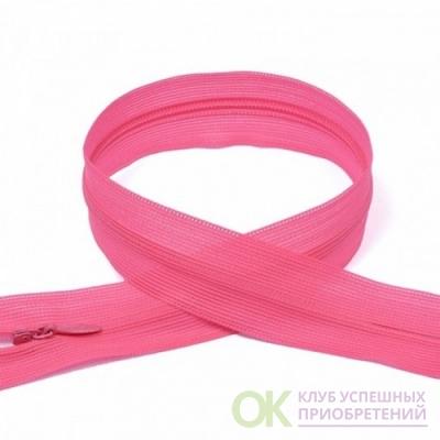 Молния пласт потайная №3 50 см цвет 337 яр-розовый неон