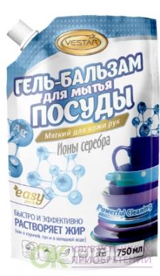 Гель-бальзам для мытья посуды Антибактериальное с ионами серебра - 750 мл